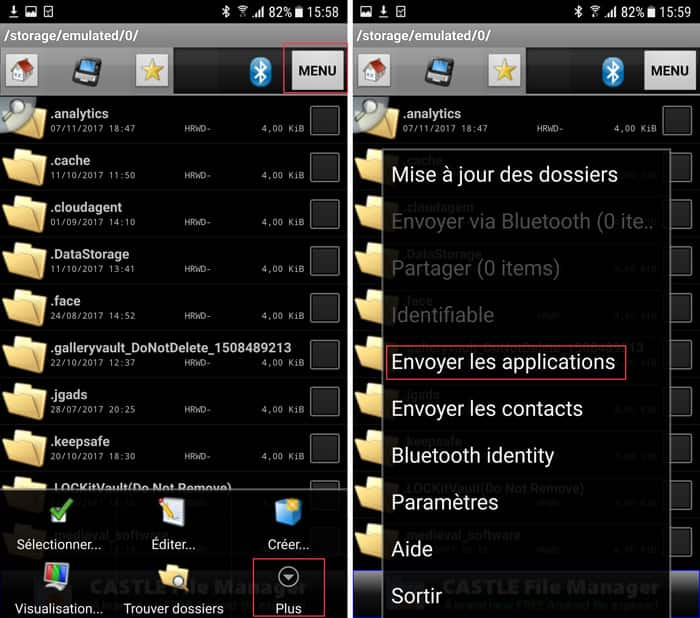 Envoyer les applications Android