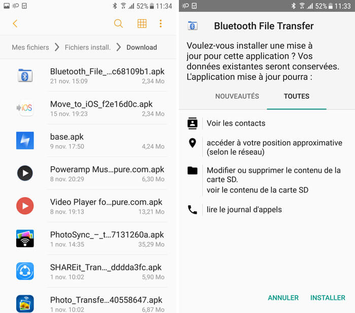 3 solutions de transf u00e9rer les applications android