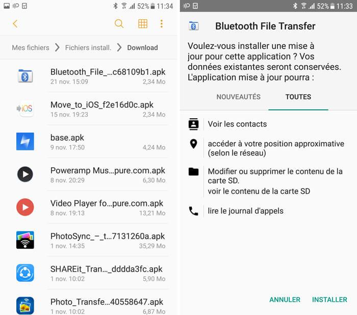 3 solutions de transf u00e9rer les applications android