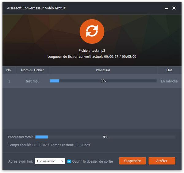 Déroulez la liste Profil et sélectionnez le type (audio ou vidéo) et le format de  sortie que vous souhaitez : H.246, H.265, OGG, MP3, Flac, … Vous pouvez créer ...