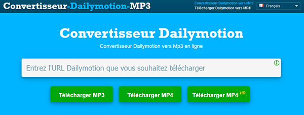 Convertisseur Dailymotion MP3