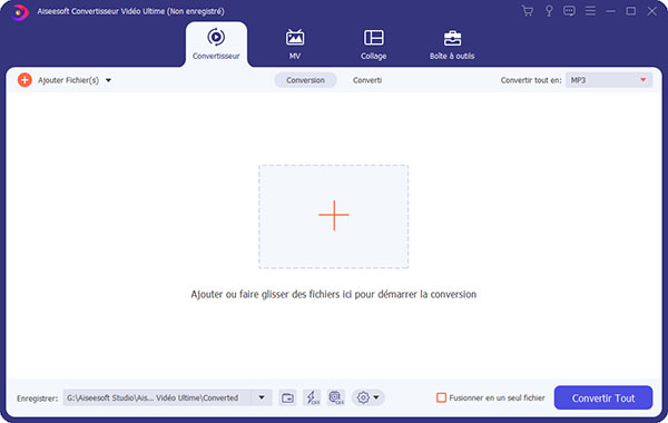Interface de Convertisseur Vidéo Ultimate