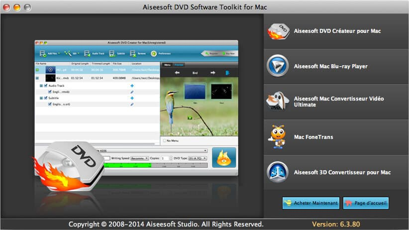 DVD Software Toolkit pour Mac
