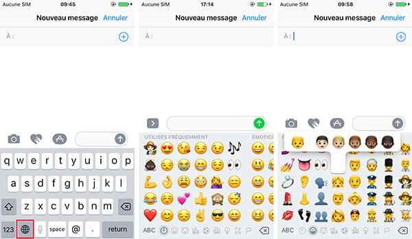 comment ajouter utiliser supprimer le clavier emoji iphone. Black Bedroom Furniture Sets. Home Design Ideas