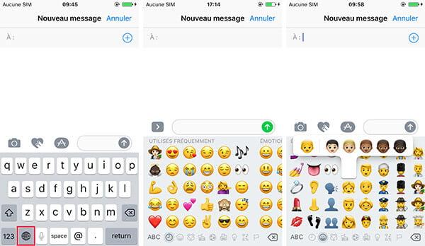Comment ajouter utiliser supprimer le clavier emoji iphone for Les parties du clavier