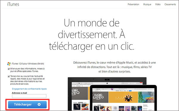 telecharger itunes gratuit pour iphone 4 windows 10