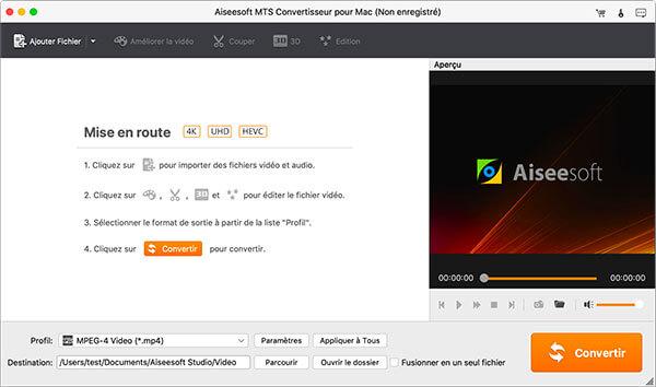 Comment utiliser aiseesoft mts convertisseur pour mac - Logiciel couper video mac ...