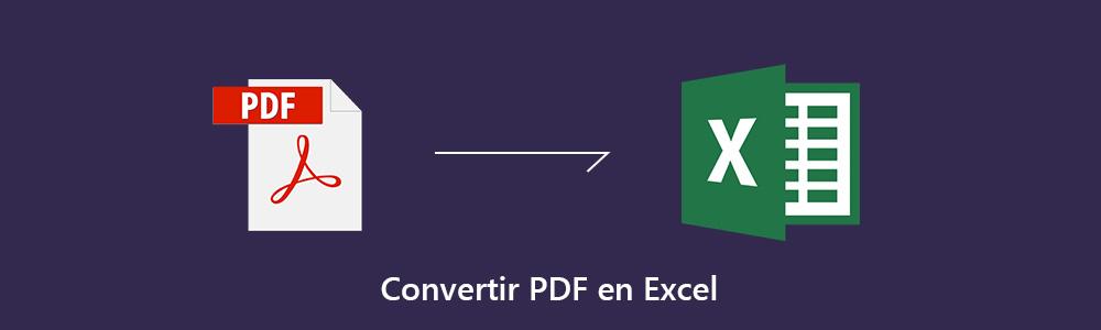 comment convertir pdf en tableur excel rapidement