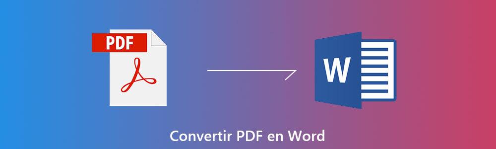 comment convertir un document pdf en word