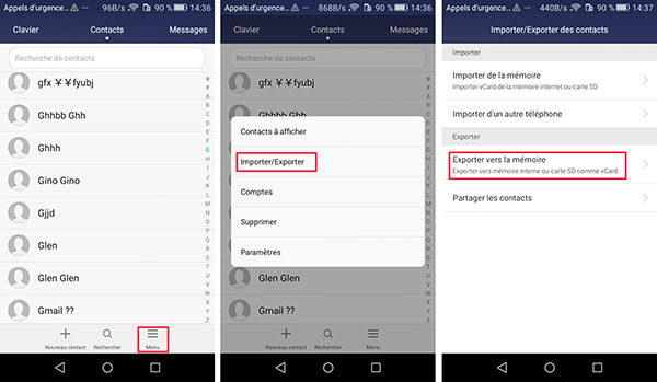 how to add a contact to gmail on android