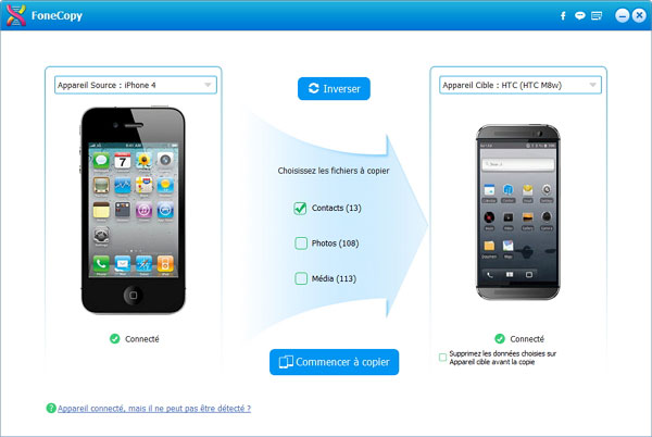 Exporter les contacts iPhone vers Android