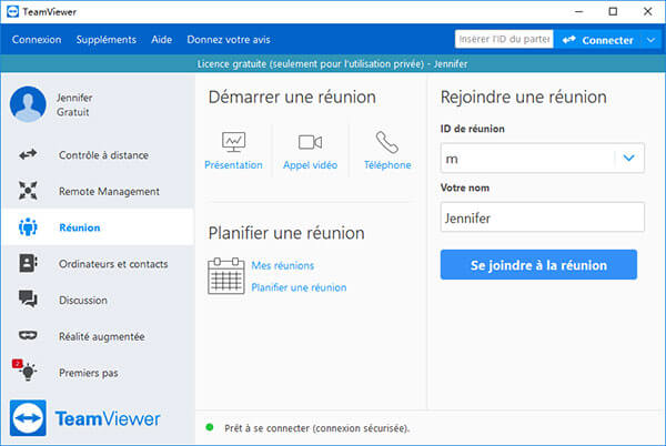 Interface de TeamViewer