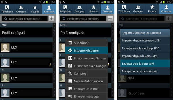 3 m u00e9thodes de sauvegarder les contacts android
