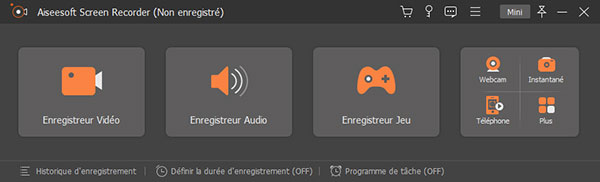 Lancer le programme de Screen Recorder