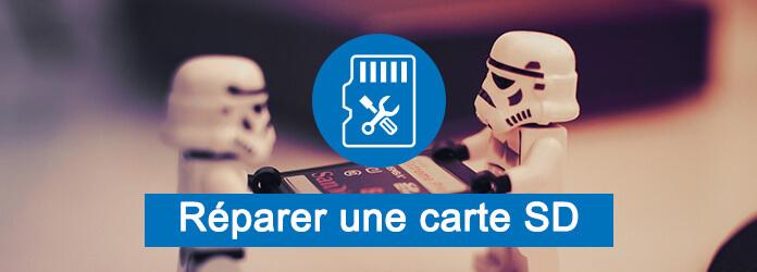 reparer carte micro sd La carte SD est endommagée, réparer la carte et récupérer des données