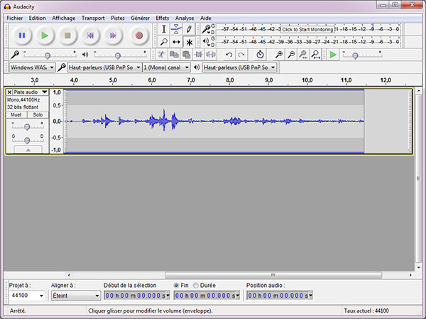 Enregistrer le streaming audio Audacity